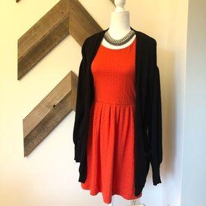 Anthropologie Deletta Orange Torcha Dress